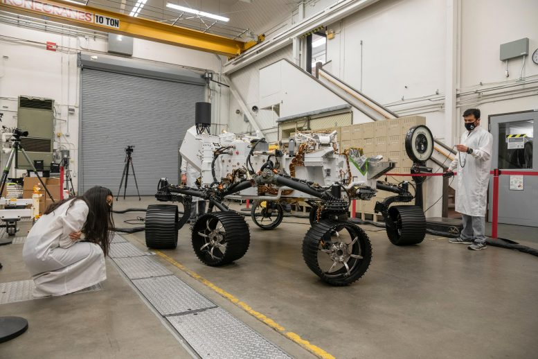 NASA Perseverance Test Rover First Drive