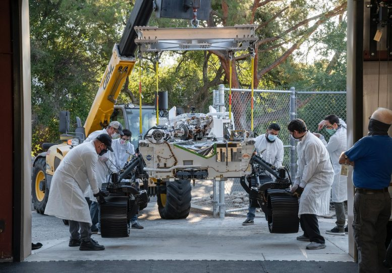 NASA Perseverance Test Rover Moved 1