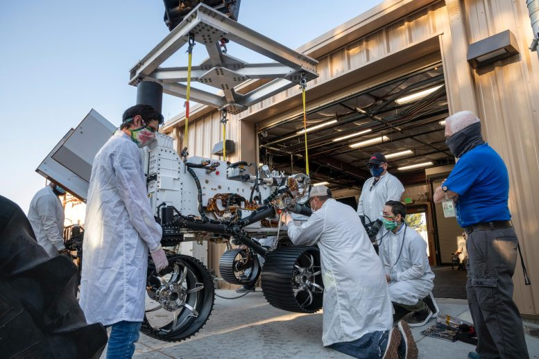 NASA Perseverance Test Rover Moved 4