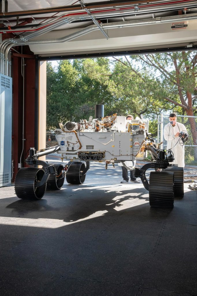 NASA Perseverance Test Rover Moved 5