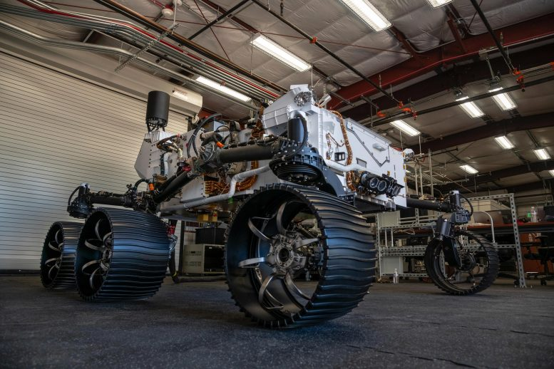 NASA Perseverance Test Rover Moved 6