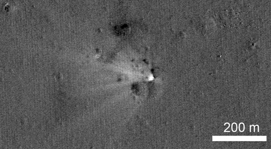 NASA Spacecraft Views LADEE Impact Crater