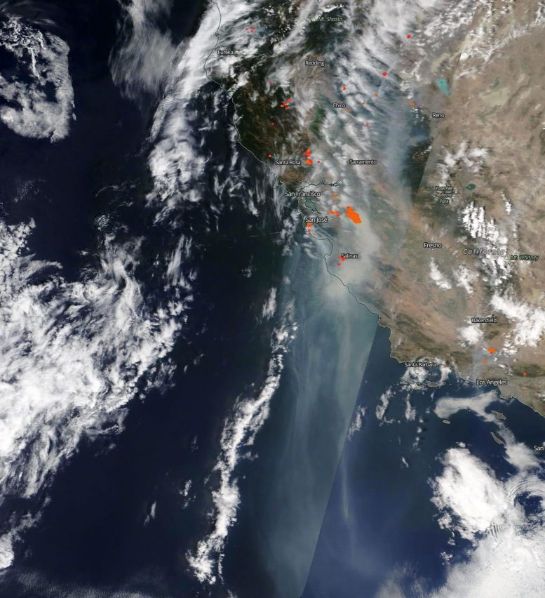 NASA Terra Satellite California Fires