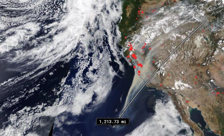 NASA Terra Satellite California Fires August 2020