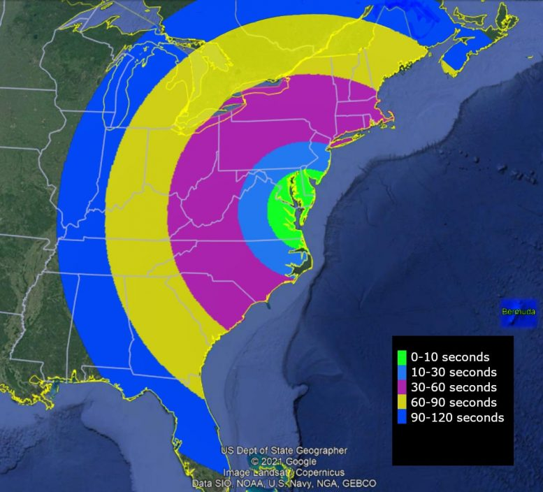 NASA Wallops Rocket Launch Visible in Eastern United States