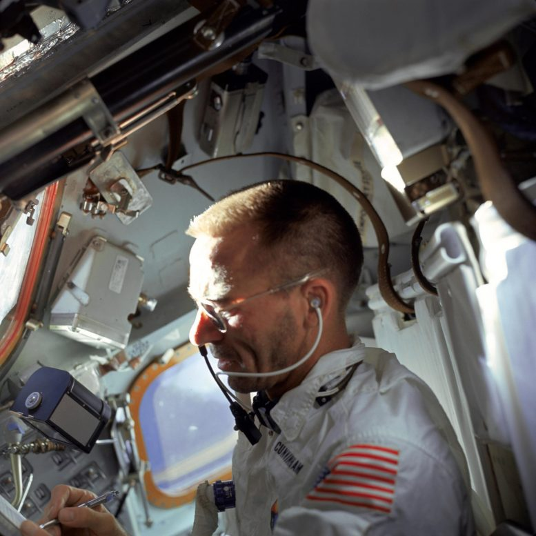 NASA astronaut Walter Cunningham Writes With Fisher Space Pen