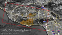 NASA's ARIA Maps California Wildfires