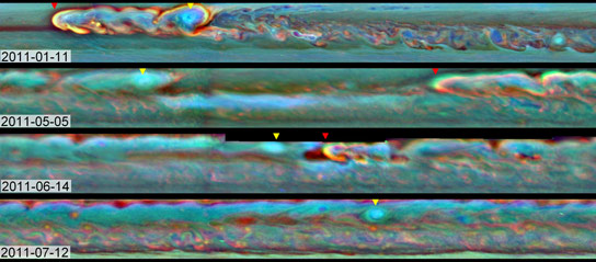 NASA's-Cassini-mission-shows-the-evolution-of-a-massive-thunder-and-lightning-storm