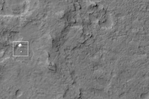 NASA's Curiosity rover and its parachute were spotted by NASA's Mars Reconnaissance Orbiter