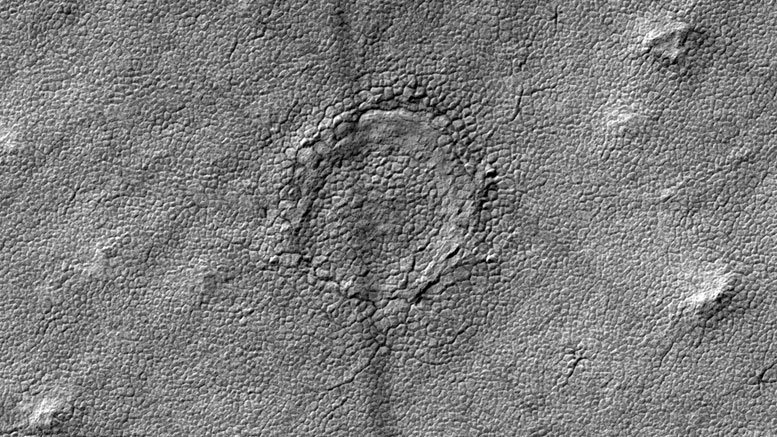 NASA's HiRISE Finds a Possible Impact Crater on the Surface of Mars