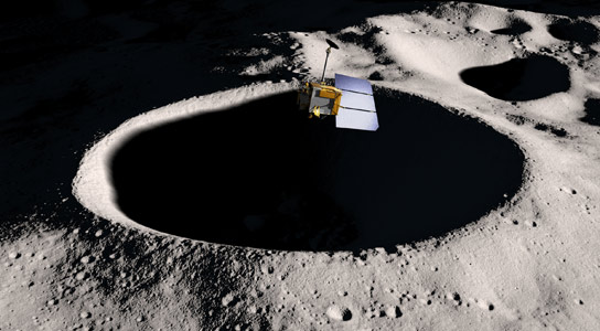 NASA's LRO Close to the Lunar Surface
