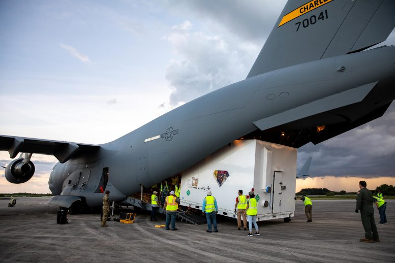 NASA's Lucy Spacecraft Arrives by Cargo Plane