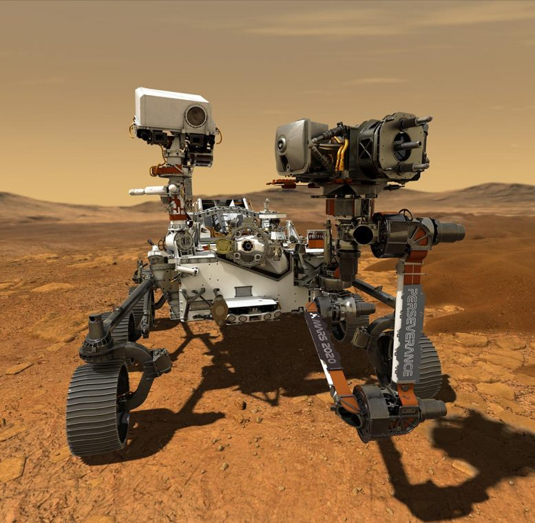 NASA's Perseverance Rover Operating on the Surface of Mars