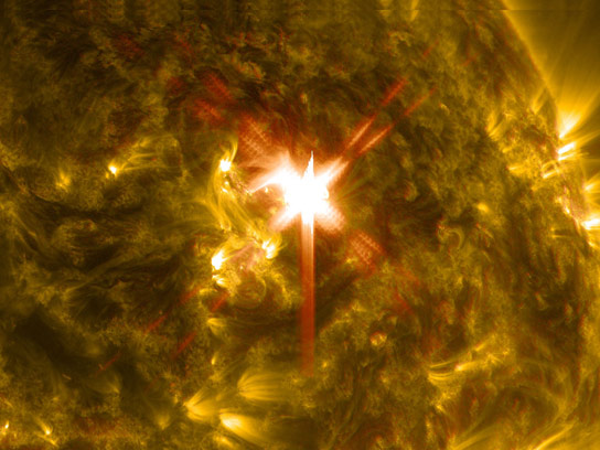NASAs Solar Dynamics Observatory Captures Images of X Class Solar Flare