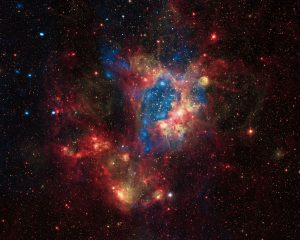 NGC 1929, a star cluster embedded in the N44 nebula
