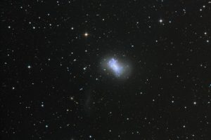 NGC 4449 and its companion dwarf galaxy, NGC 4449B