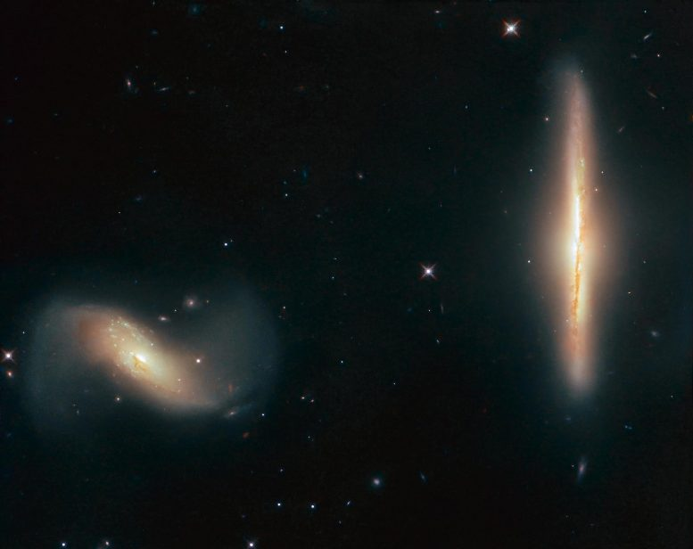 NGC 6285 and NGC 6286 Galaxies Hubble Image