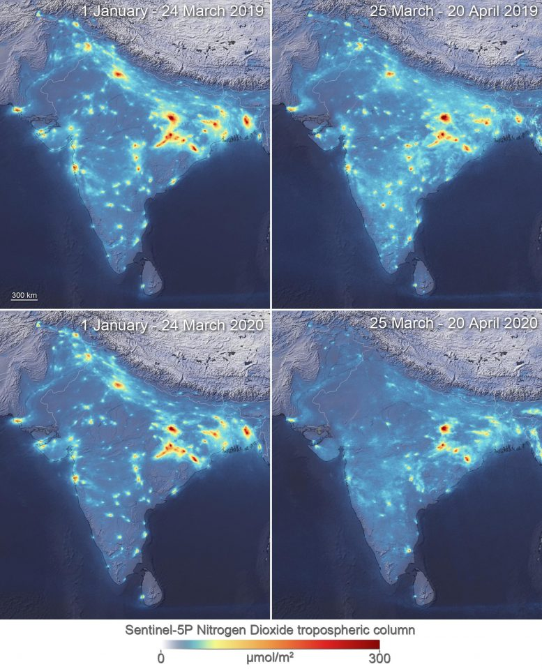 NO2 Concentrations Over India