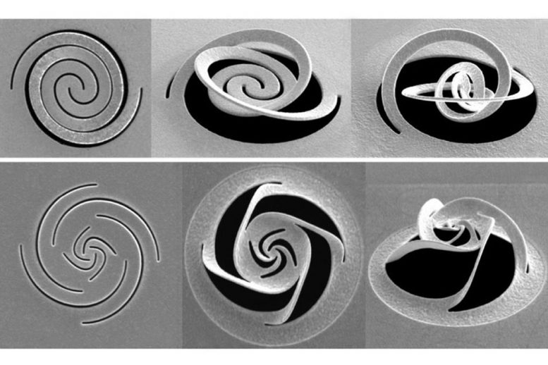 Nano Kirigami with Giant Optical Chirality
