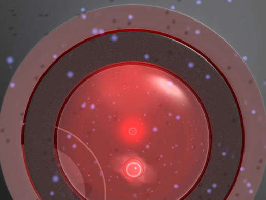 Nanoparticle Temporarily Violates the Second Law of Thermodynamics