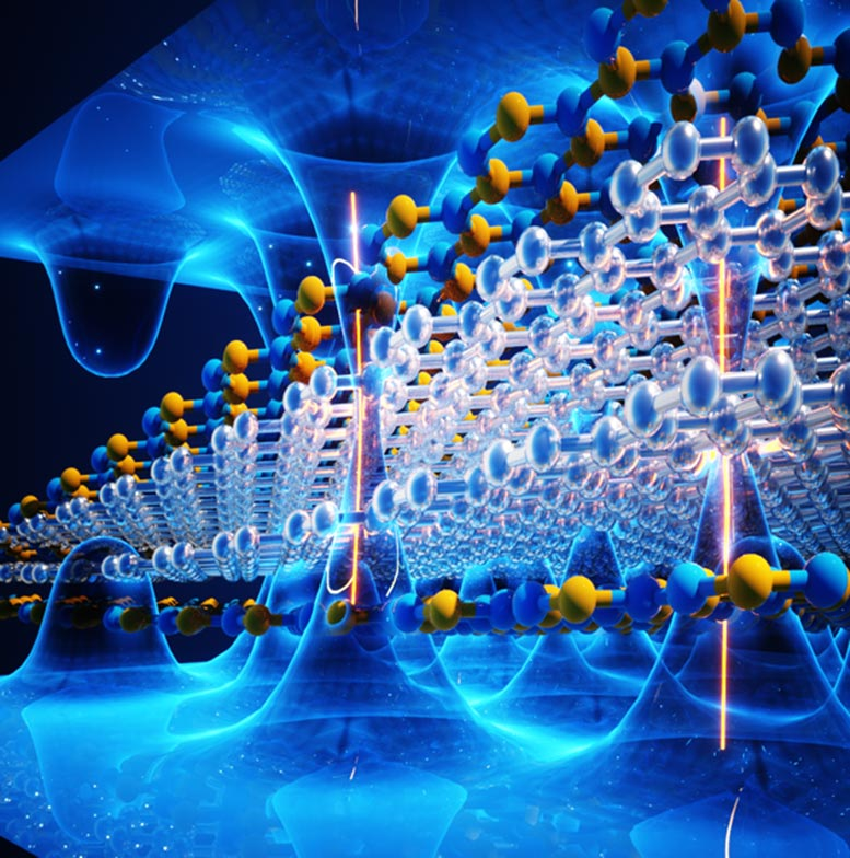 Nanoscopic Structure of New Ferroelectric Material