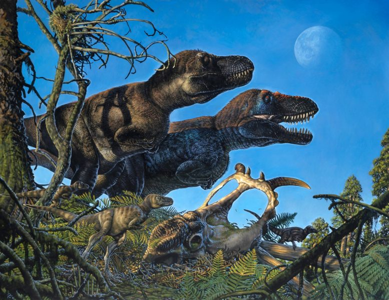 Nanuqsaurus With Young