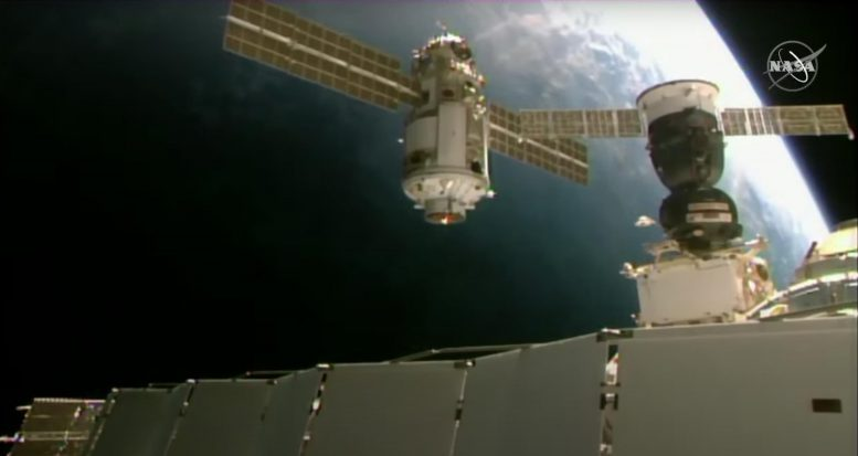 Nauka Approaches Space Station