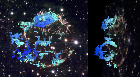 Nearby Supernova Remnant Reveals Frothy Interior