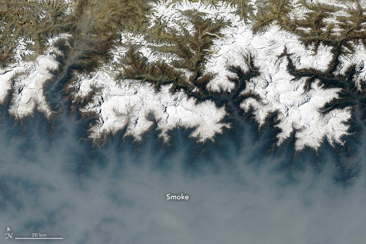 Nepal Fires April 2021 Landsat 8 Annotated