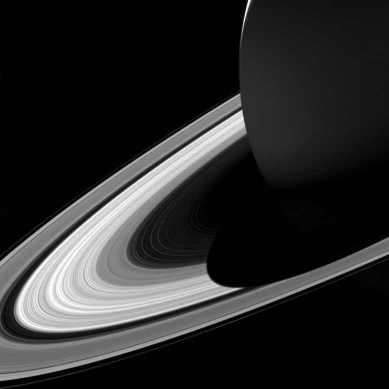 New Cassini Image Views Saturn's Shadow