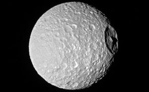 New Cassini Image of Mimas' Mountain