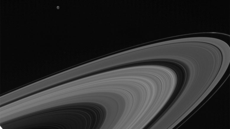 New Cassini Image of Saturn and Tethys