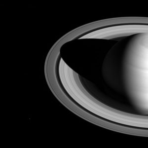New Cassini Image of Saturn with Mimas