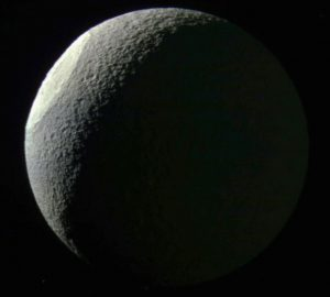 New Cassini Image of Saturn's Moon Tethys