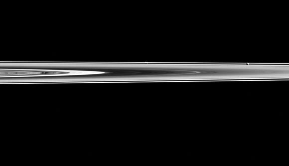 New Cassini Image of Saturn's Moons Prometheus and Pandora