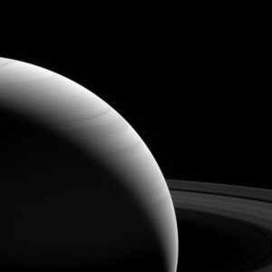 New Cassini Spacecraft View of Saturn at Dawn