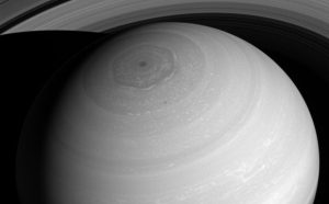 New Cassini View from Above Saturn