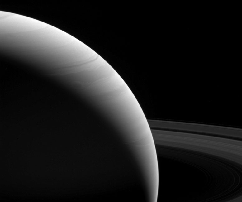 New Cassini View of Saturn at First Light