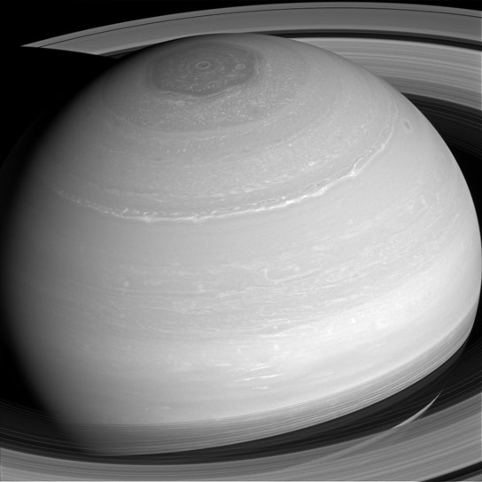New Cassini View of Saturn
