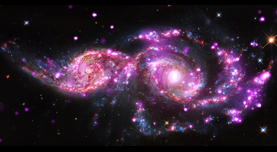 New Chandra Image of NGC 2207 and IC 2163