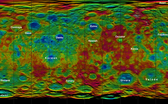 New Color-Coded Map of Dwarf Planet Ceres