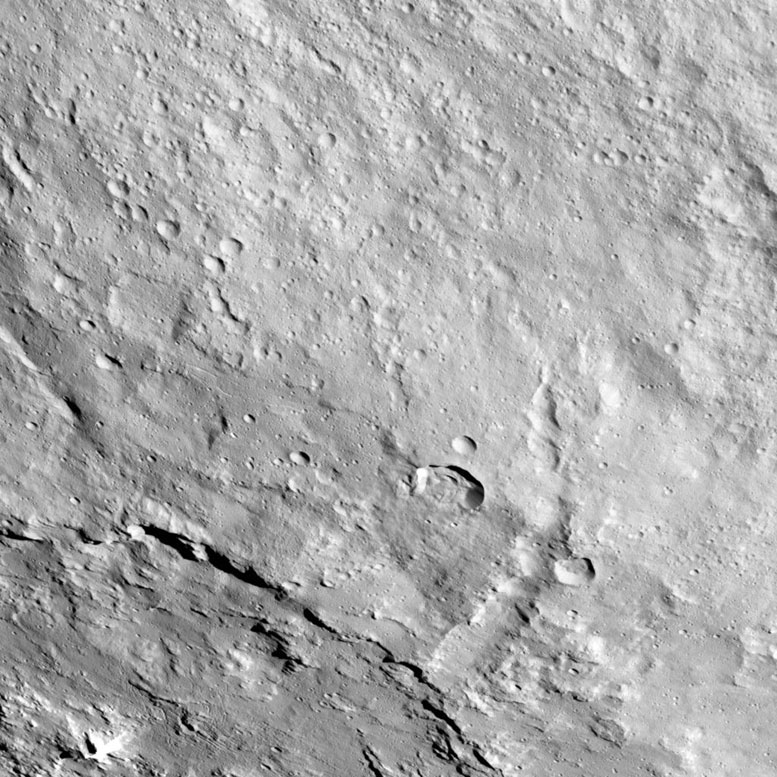New Dawn Spacecraft Image of Pongal Catena on Ceres