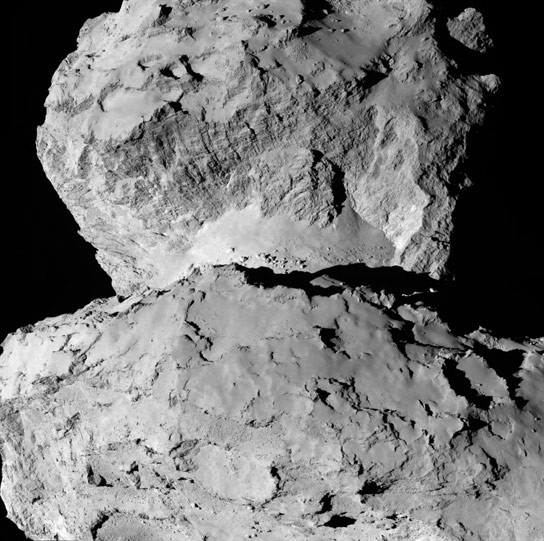 New Detailed Image of 67P Churyumov Gerasimenko