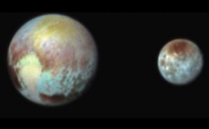 New False Color Image of Pluto and Charon