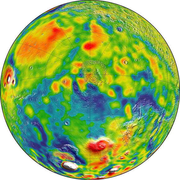 New Gravity Map Gives Best View Yet Inside Mars