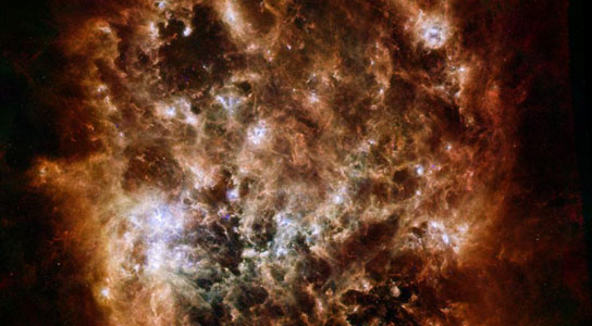 New Herschel Space Observatory Image Shows Magellanic Cloud Galaxy