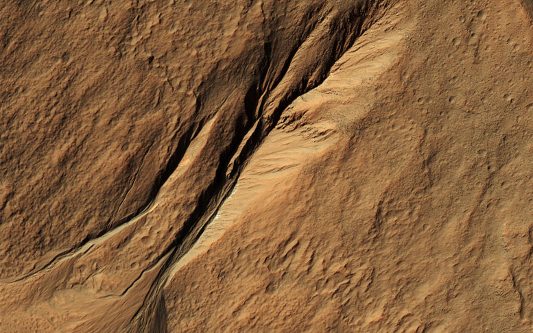New HiRISE Image of Gullies on Mars