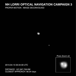 New Horizons Detects Surface Features on Pluto