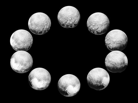 New Horizons Views Pluto Rotating Over the Course of a Full Pluto Day