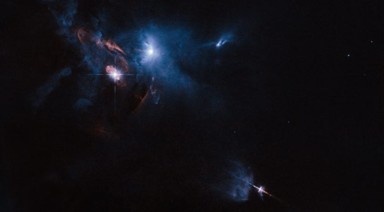 New Hubble Image of Multiple Star System XZ Tauri